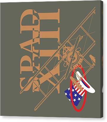 Spad Xiii Hat In The Ring Canvas Print by Ewan Tallentire