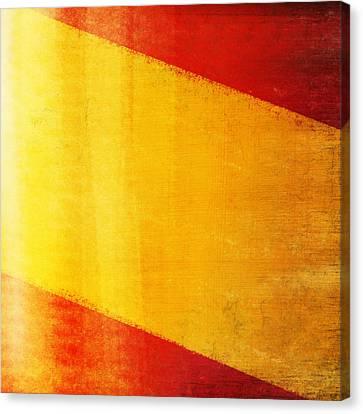 Spain Flag Canvas Print by Setsiri Silapasuwanchai