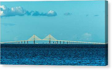 Span Over St. Petersburg Canvas Print by Marvin Spates