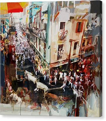 Performers Canvas Print - Spanish Culture 11 by Corporate Art Task Force