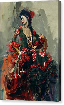 Senorita Canvas Print - Spanish Culture 16 by Corporate Art Task Force