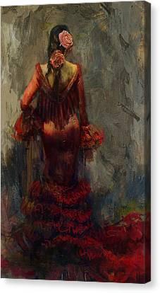 Senorita Canvas Print - Spanish Culture 22b  by Corporate Art Task Force