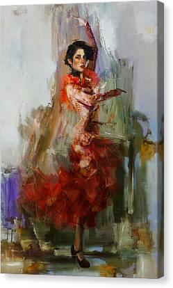 Senorita Canvas Print - Spanish Culture 31b by Corporate Art Task Force