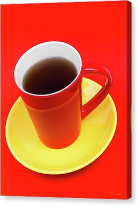 Spanish Cup Of Coffee Canvas Print by Wim Lanclus