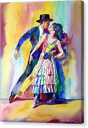 Spanish Dance Canvas Print by David Lloyd Glover