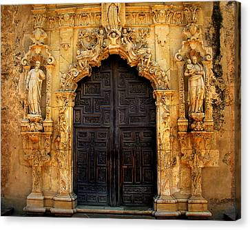 Spanish Doorway Canvas Print by Perry Webster