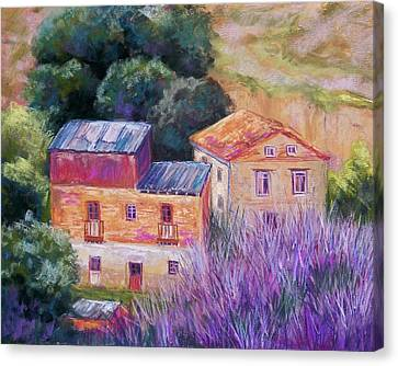 Spanish Farmhouses Canvas Print by Candy Mayer