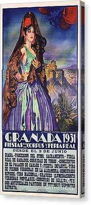 Spanish Granada - Poster Canvas Print
