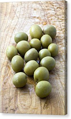 Spanish Manzanilla Olives Canvas Print by Frank Tschakert