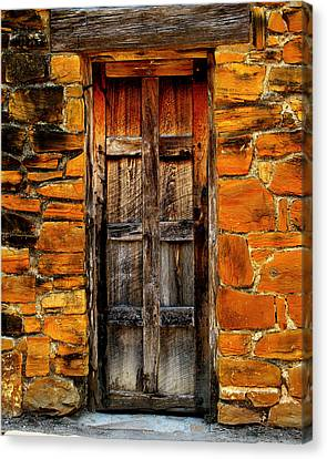 Spanish Mission Door Canvas Print by Perry Webster