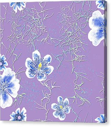 Lavender Spanish Moss Tile Canvas Print