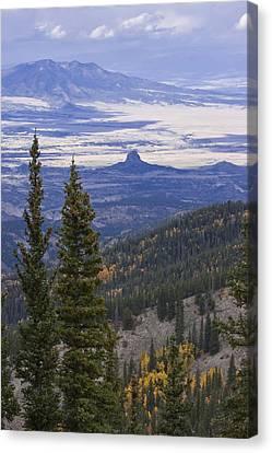 Spanish Peaks Canvas Print by Charles Warren