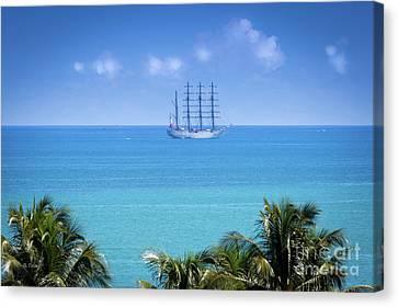 Spanish Ship Juan Sebastian Elcano Royal Spanish Navy Canvas Print by Rene Triay Photography