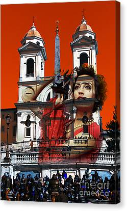 Spanish Steps Photographer Canvas Print by John Rizzuto