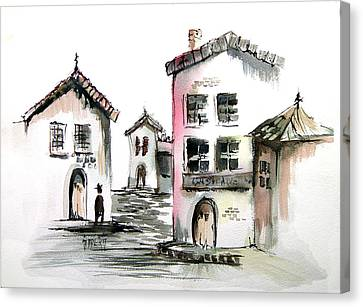 Spanish Street Canvas Print by Sam Sidders
