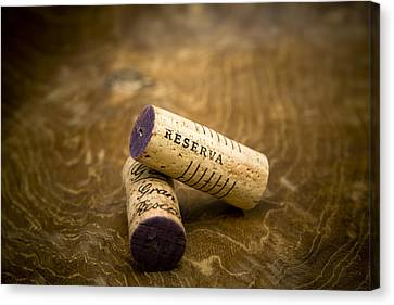 Spanish Wine Corks - Reserva And Gran Reserva Canvas Print by Frank Tschakert