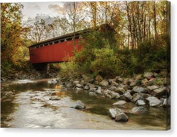 Canvas Print featuring the photograph Spanning Across The Stream by Dale Kincaid