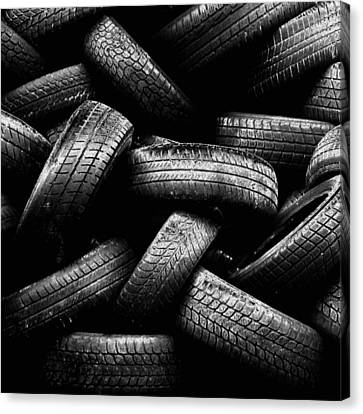 Spare Tires Canvas Print by Margherita Wohletz