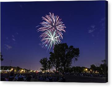 Spark And Bang Canvas Print by CJ Schmit