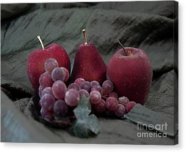 Canvas Print featuring the photograph Sparkeling Fruits by Sherry Hallemeier