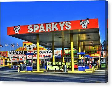 Atlanta Convention Canvas Print - Sparkeys by Corky Willis Atlanta Photography