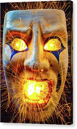 Sparking Mask Canvas Print by Garry Gay