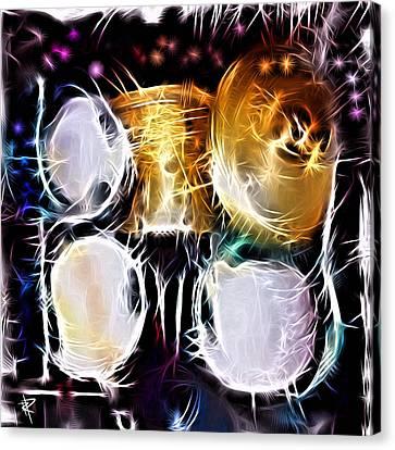 Sparkle Drums Canvas Print