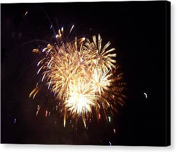 Sparklers In The Sky Canvas Print by Rosanne Bartlett