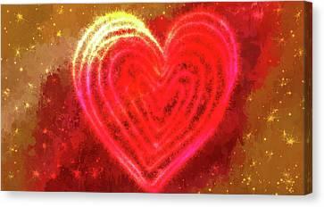 Sparkling Heart Canvas Print