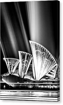 Jewels Canvas Print - Sparkling Blades Bw by Az Jackson