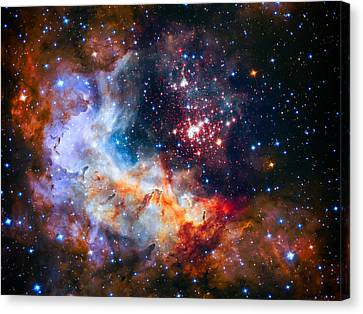 Sparkling Star Cluster Westerlund 2 Canvas Print by Jennifer Rondinelli Reilly - Fine Art Photography