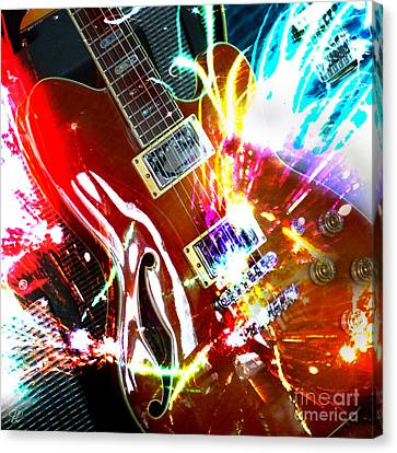 Canvas Print featuring the photograph Sparks Fly by LemonArt Photography