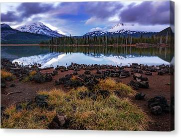 Canvas Print featuring the photograph Sparks Lake by Cat Connor
