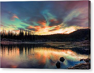 Sparks Lake Hues Canvas Print