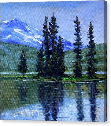 Canvas Print featuring the painting Sparks Lake View by Nancy Merkle