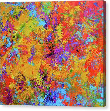 Sparks Of Consciousness Modern Abstract Painting Canvas Print by Patricia Awapara