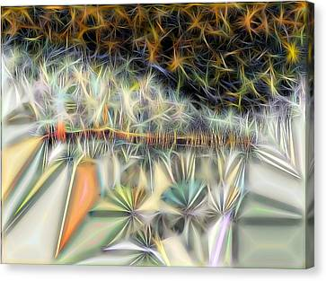 Canvas Print featuring the digital art Sparks by Ron Bissett