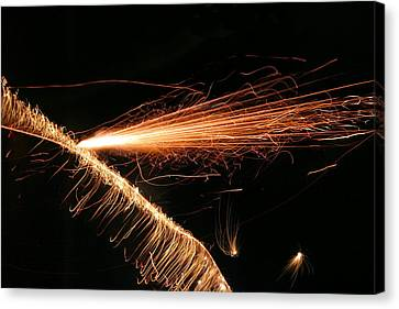 Sparks Will Fly Canvas Print by Kristin Elmquist