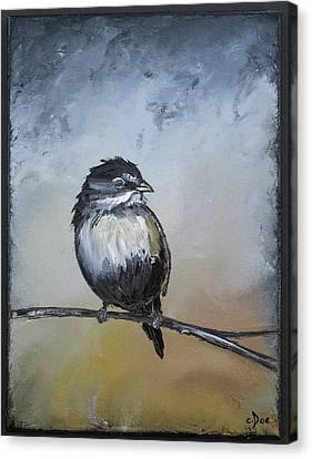 Sparrow Canvas Print by Carolyn Doe