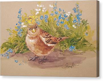 Sparrow Queen Canvas Print