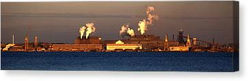 Sparrows Point Steel Mill Maryland  Canvas Print by Wayne Higgs