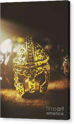 Antiquity Canvas Print - Spartan Military Helmet by Jorgo Photography - Wall Art Gallery