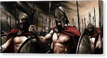 Spartans 300 Canvas Print