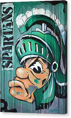 Football Canvas Print - Spartans by Julia Pappas