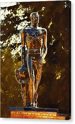 Sparty Canvas Print by Paul Bartoszek