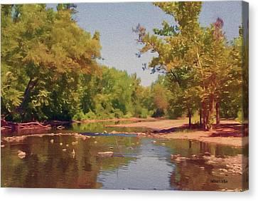 Reflected Canvas Print - Spavinaw Creek by Jeffrey Kolker
