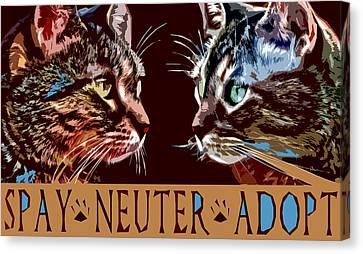 Spay Neuter Adopt Canvas Print by David G Paul