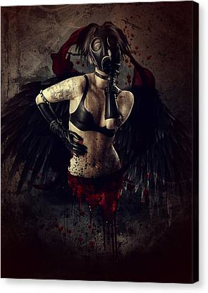 Drips Canvas Print - Speak No Evil by Mary Hood