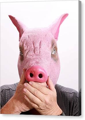 Speak No Swine Flu Canvas Print by Michael Ledray