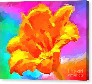 Floral Digital Art Canvas Print - Speak Of Joy by Krissy Katsimbras